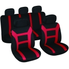 Car seat covers Evolution black/red