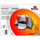 BREVO CAMPING 4 persons double layer tent
