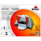 BREVO CAMPING 2 persons double layer tent